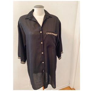 Vintage - Sheer Black Button up